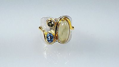 Sterling silver & 22k gold Vermeil ring