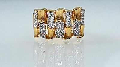 Bamboo style, Diamond, right hand, ring