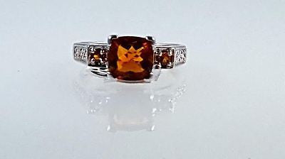 Citrine, ring, Square cut, Cushion cut, Princess cut,