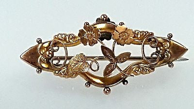 antique, victorian, 9k gold, brooch,