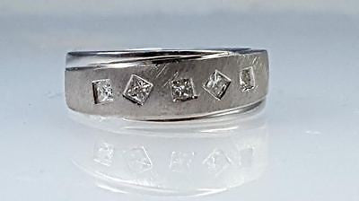 men's diamond wedding band with princess cut diamonds
