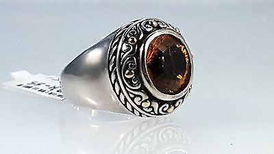 Sterling silver & 18k yellow gold ring with Citrine