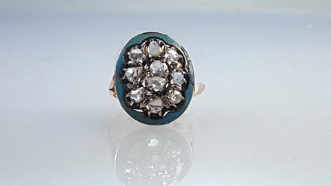 Uncut, diamond, ring, Antique, 1700's, 1800's, old ring,