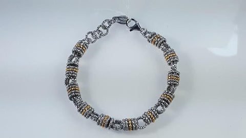 Sterling silver & gold plated bracelet