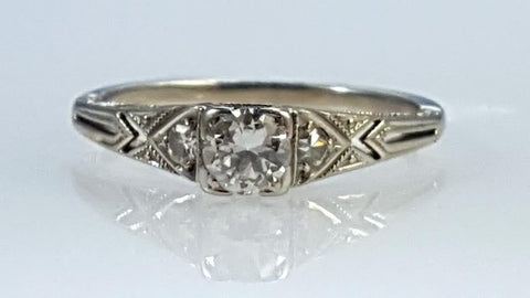 Edwardian, diamond, engagement, ring,