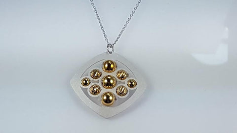 Sterling silver & gold plated necklace