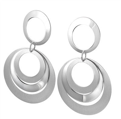 Multi circle, Earrings, silver,