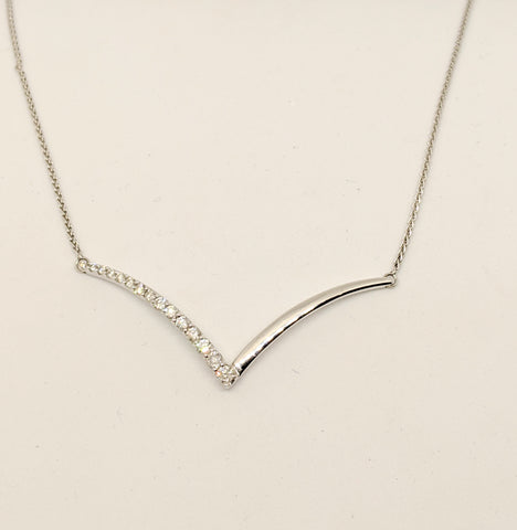 Diamond V shape necklace