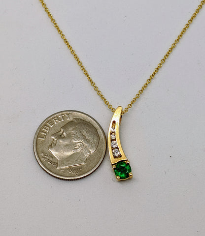 Emerald & Diamond matching set (Pendant & Earring)