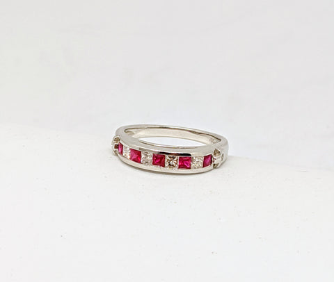 Ruby & Diamond channel set ring