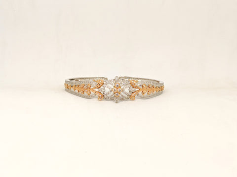 Two tone Diamond cuff bracelet