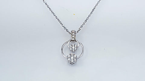 good quality, diamond, pendant, cluster,
