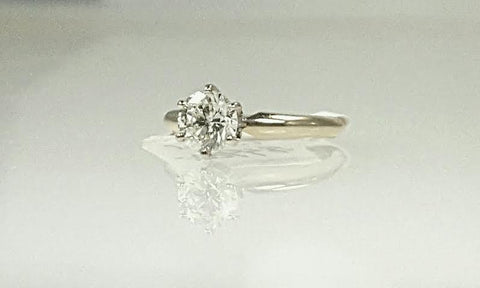 1.00ct, One Carat brilliant diamond solitaire engagement ring