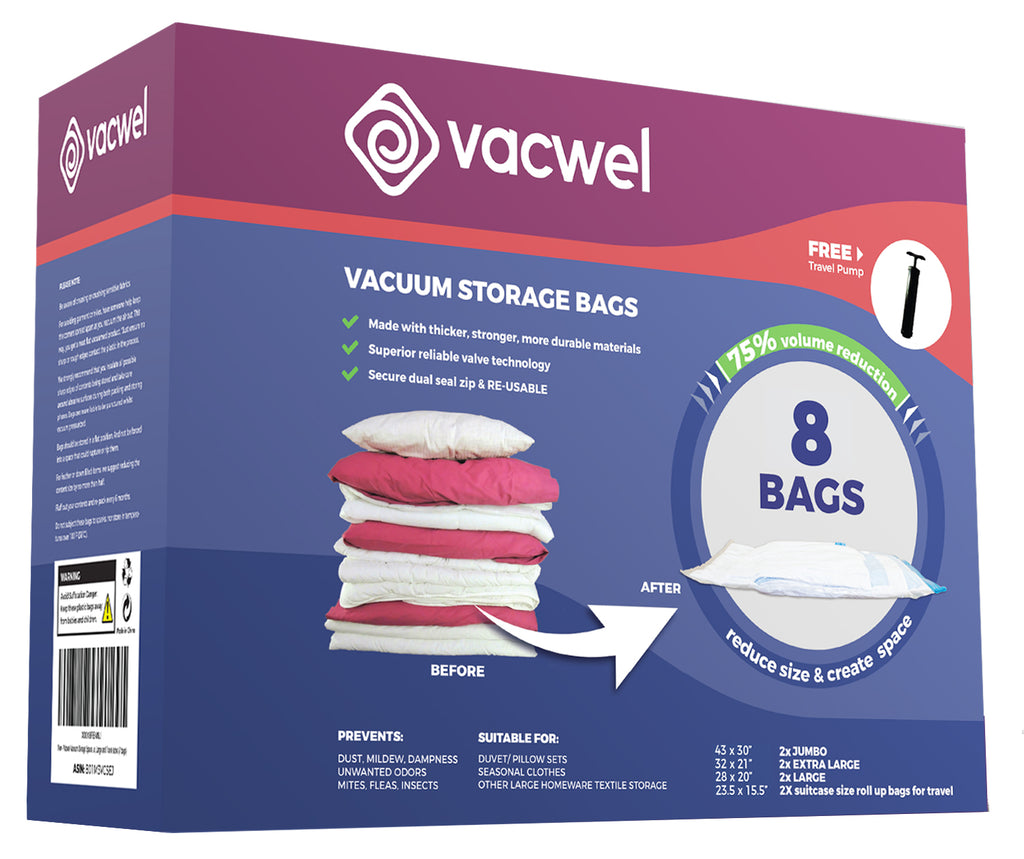 Wiki Reviews rate Vacwel #2 Vacuum Storage Bags Product