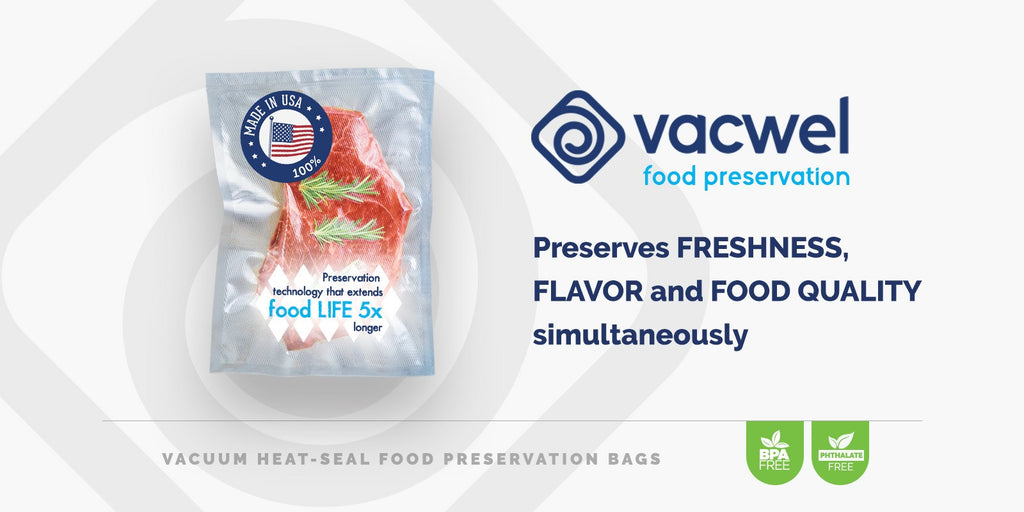 Introducing Vacwel Vacuum Sealer Bags for Food