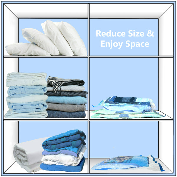 Vacwel XXL Jumbo Size Vacuum Storage Bags for Pillows, Cushions & Comforter Storage. Space Saver Bags