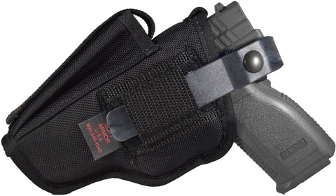 Pro Series deluxe hip holster with mag pouch, metal spring clip and composite thumb break