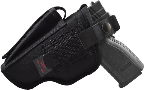 SC Series Deluxe Hip Holster with Mag Pouch, Spring Clip & Composite Thumb Break