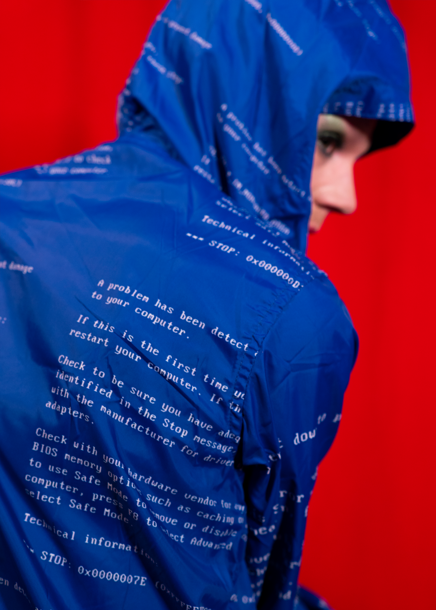 blue screen of death windbreaker