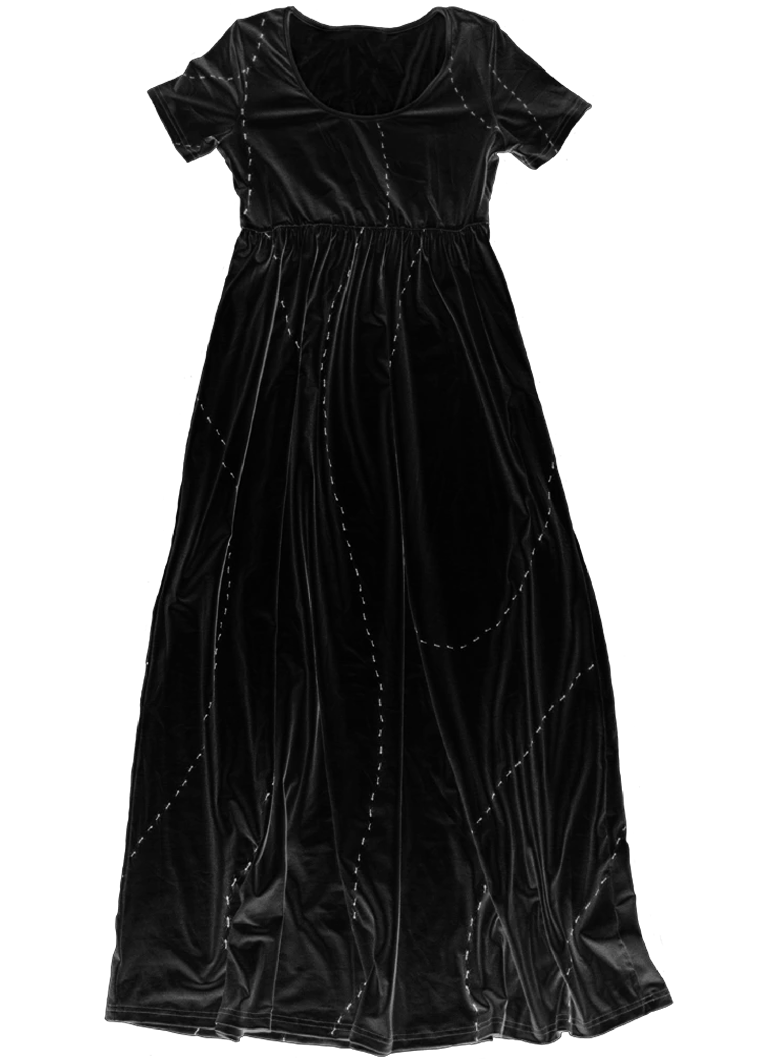 Ant Invasion Maxi Dress in Black