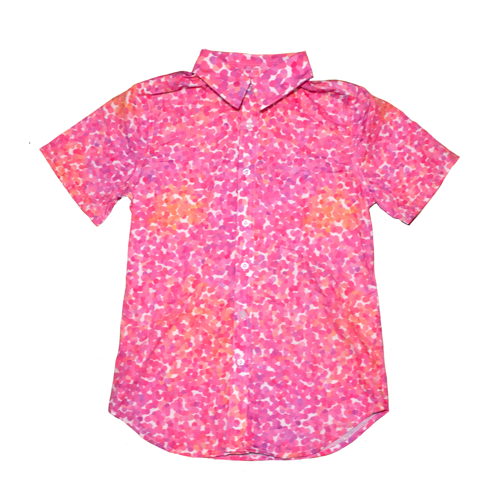 Seurat Fitted Dad Shirt in Azalea