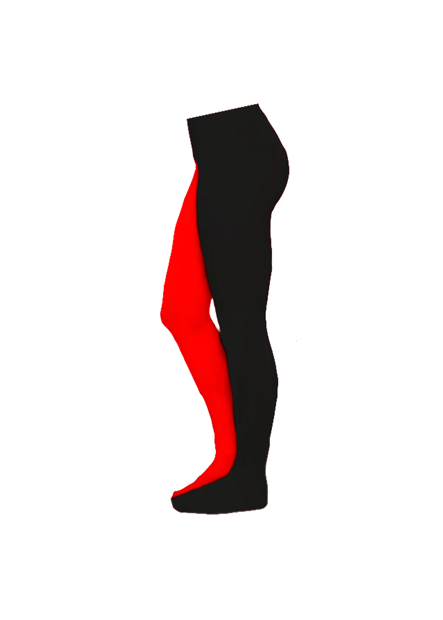 split tights - black & blood red