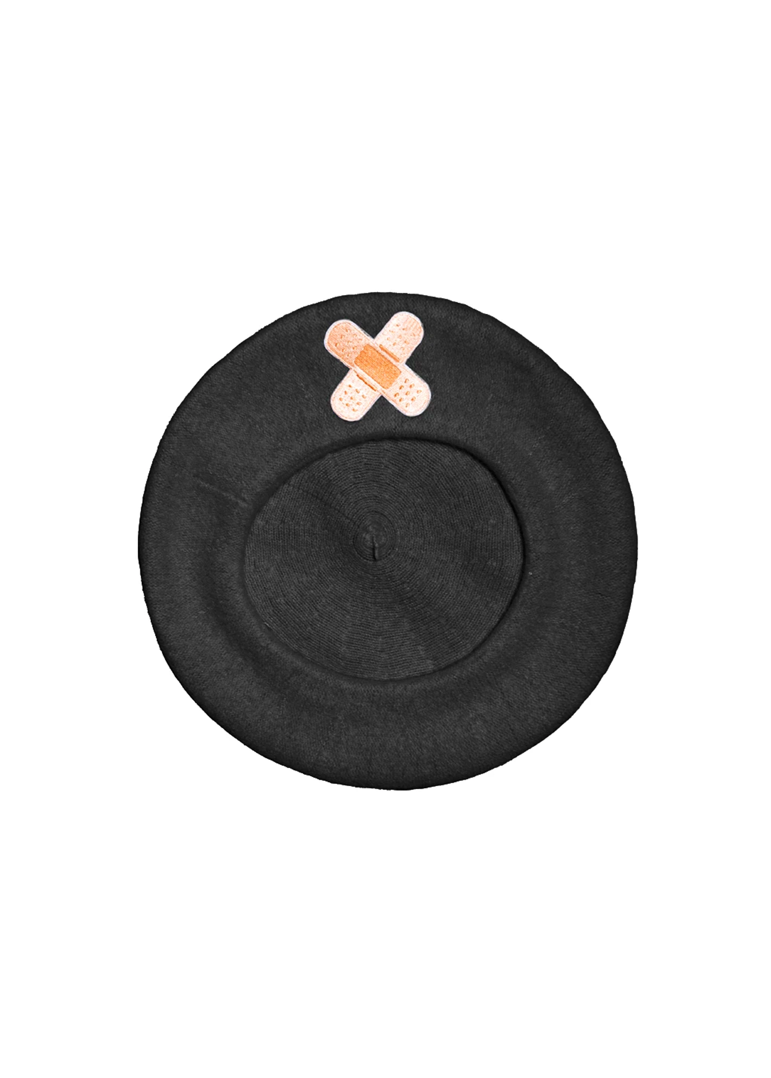 bandaid beret in black
