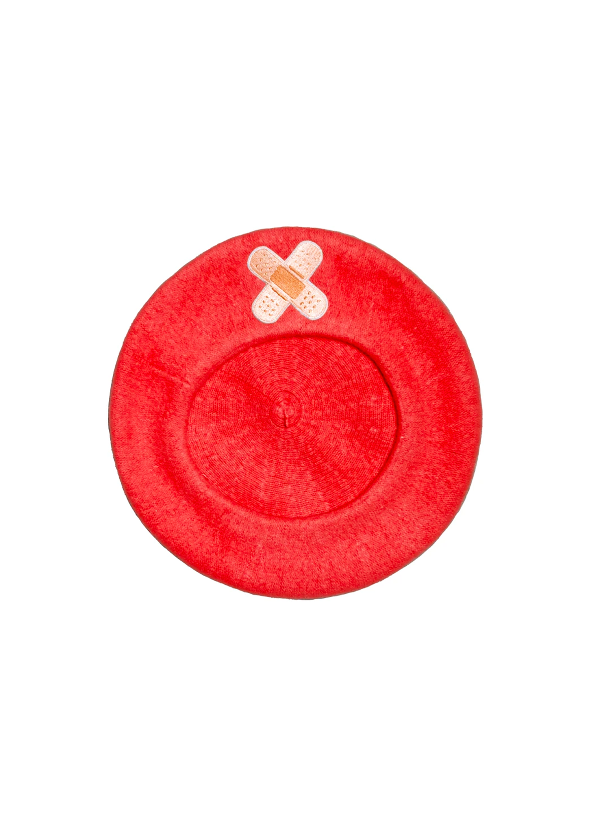 bandaid beret in red