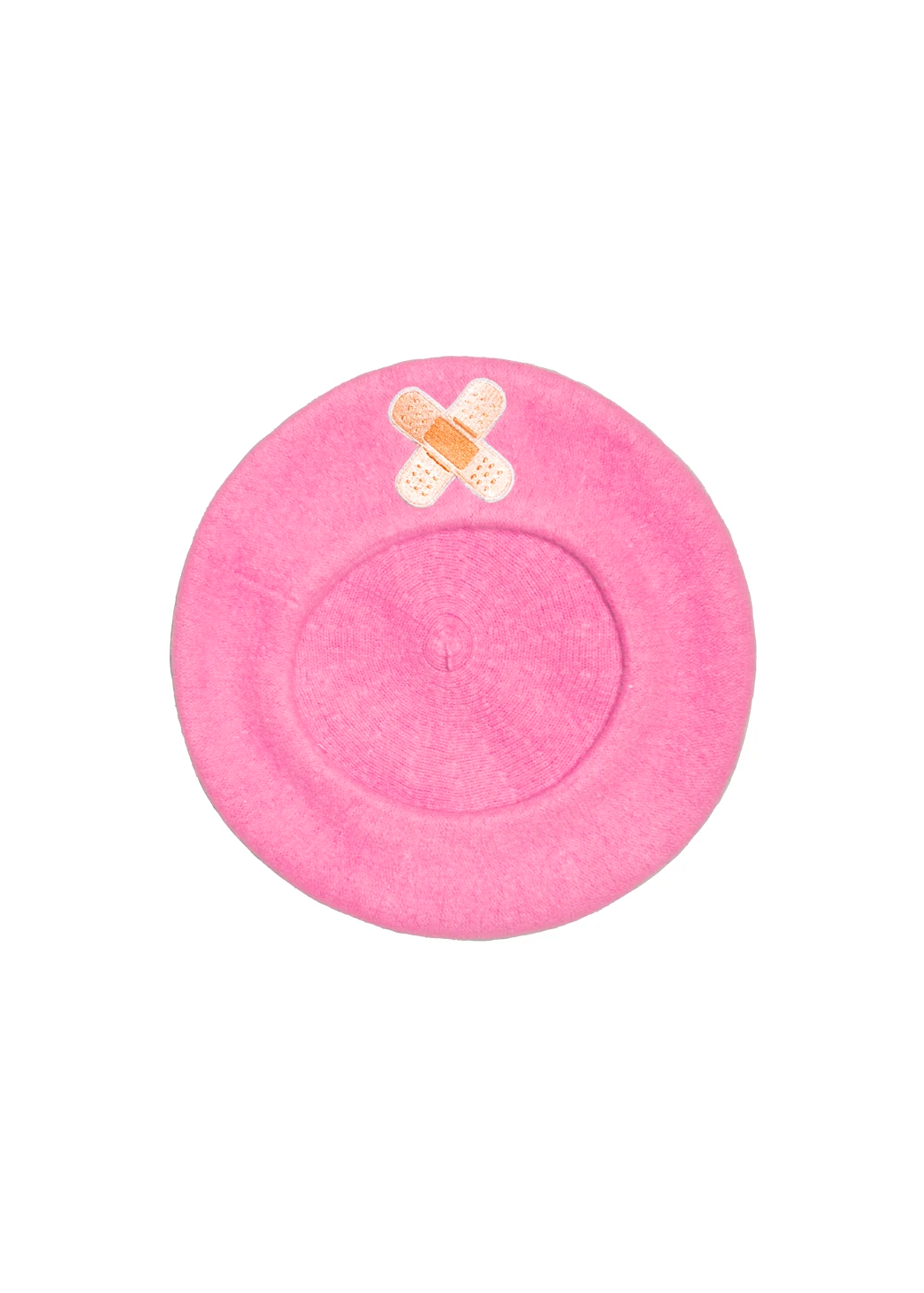 bandaid beret in pink