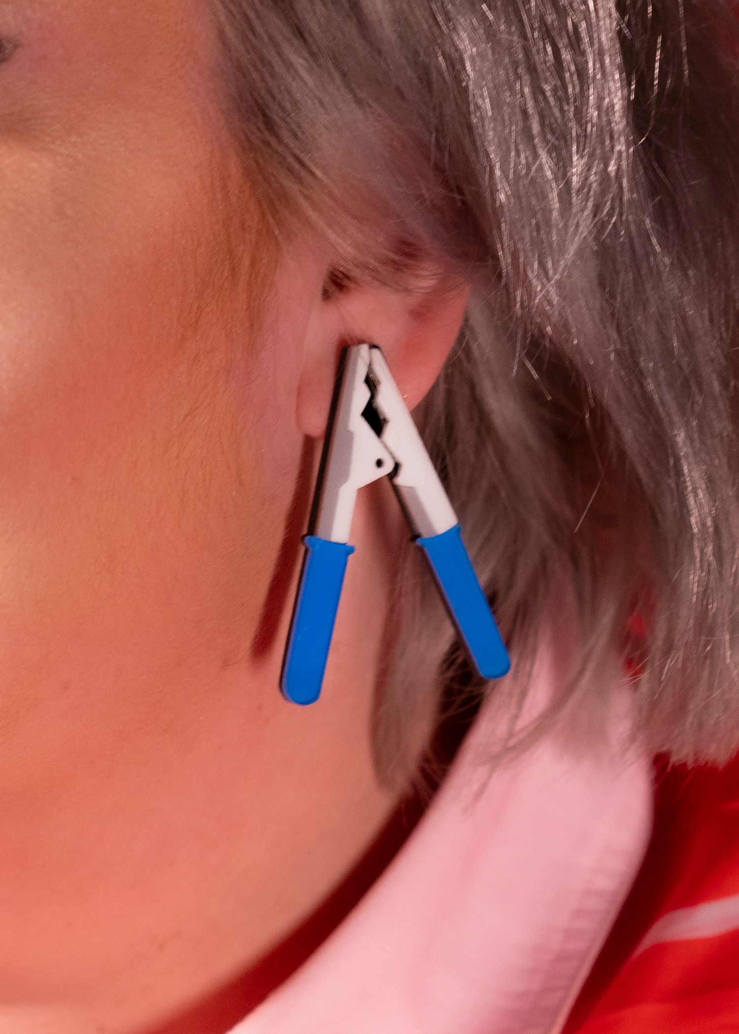 blue clamp earrings