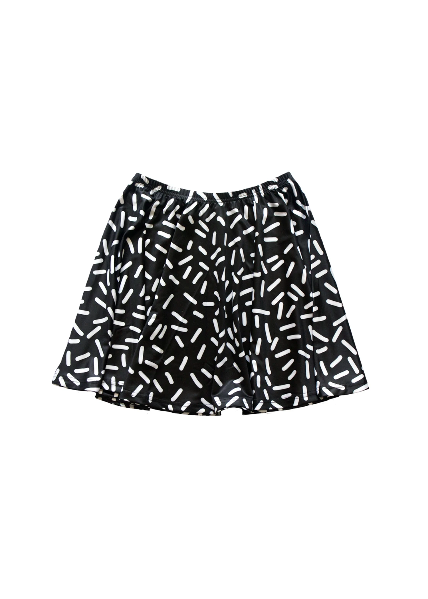 black confetti skirt