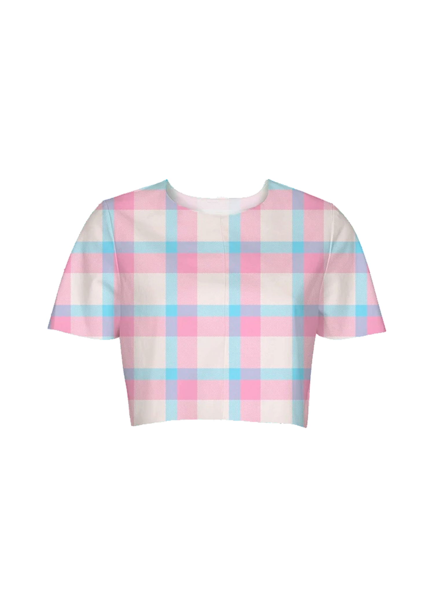 baby plaid crop top
