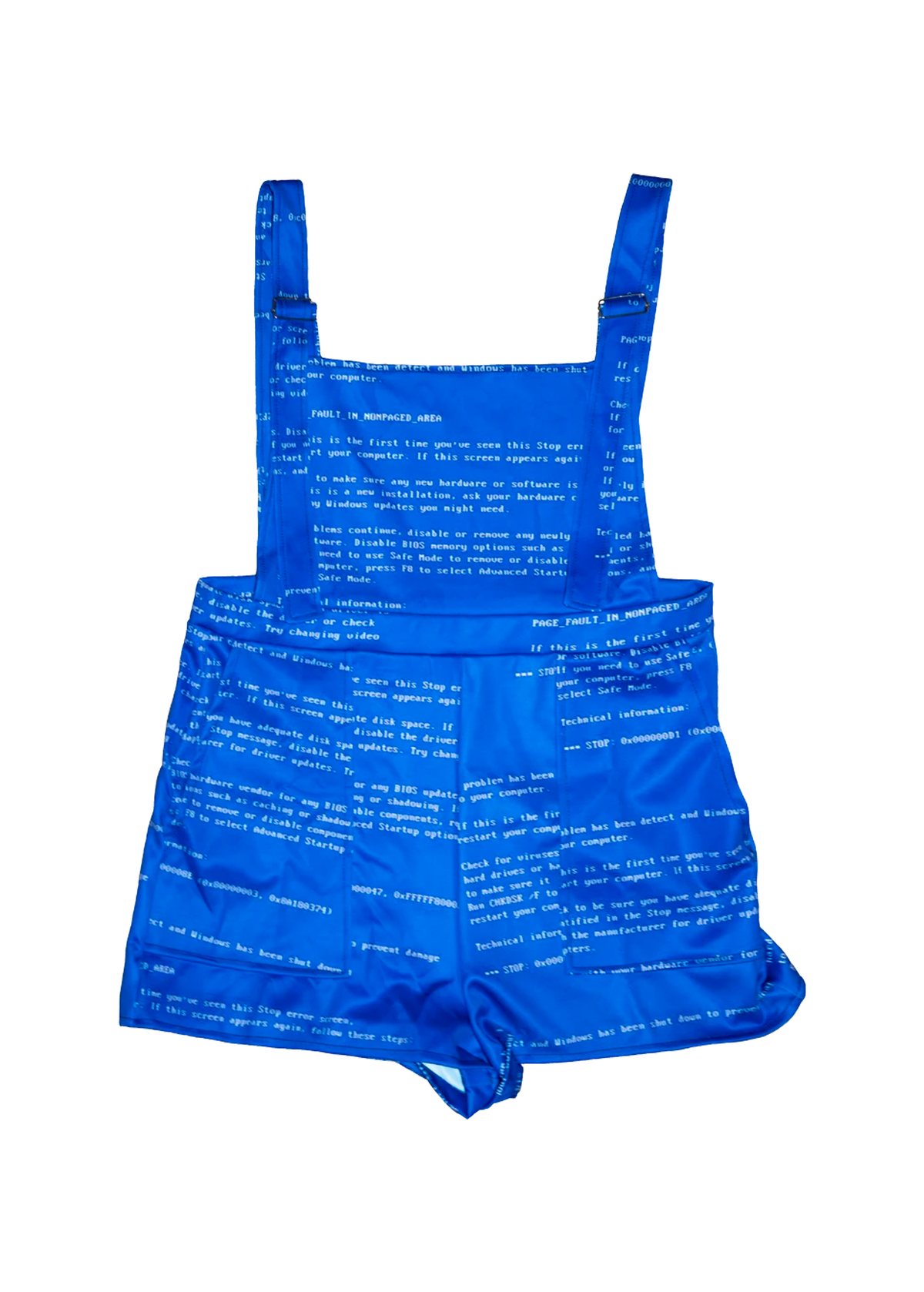 Blue Screen of Death Overall Shorts