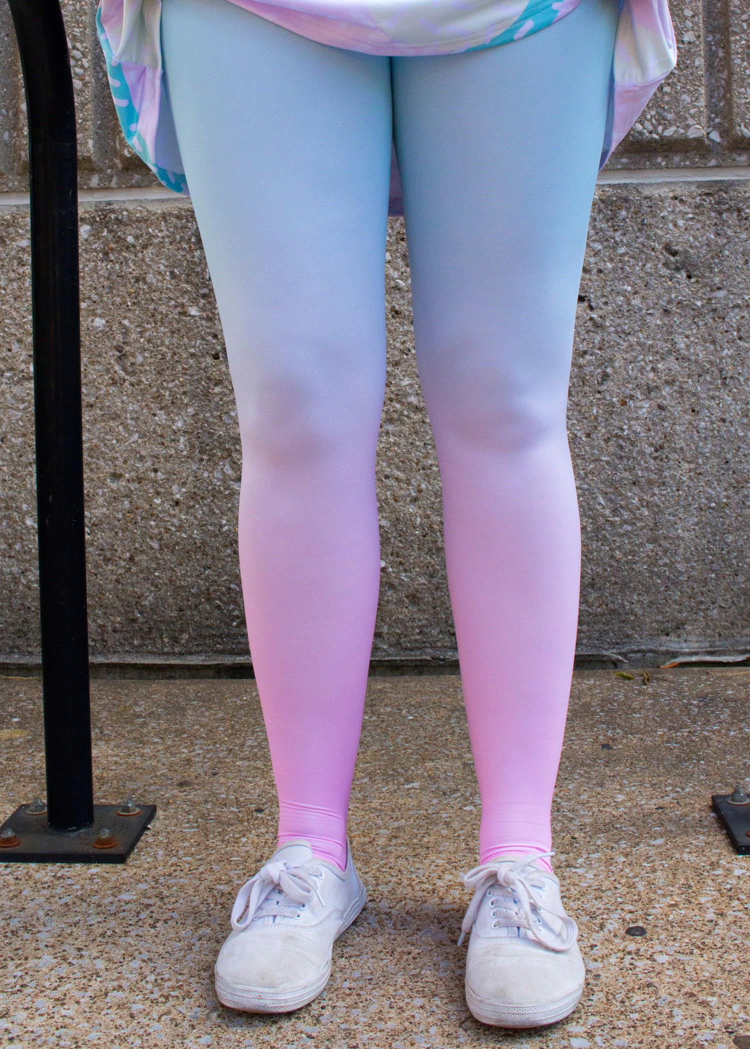 cotton candy ombre tights
