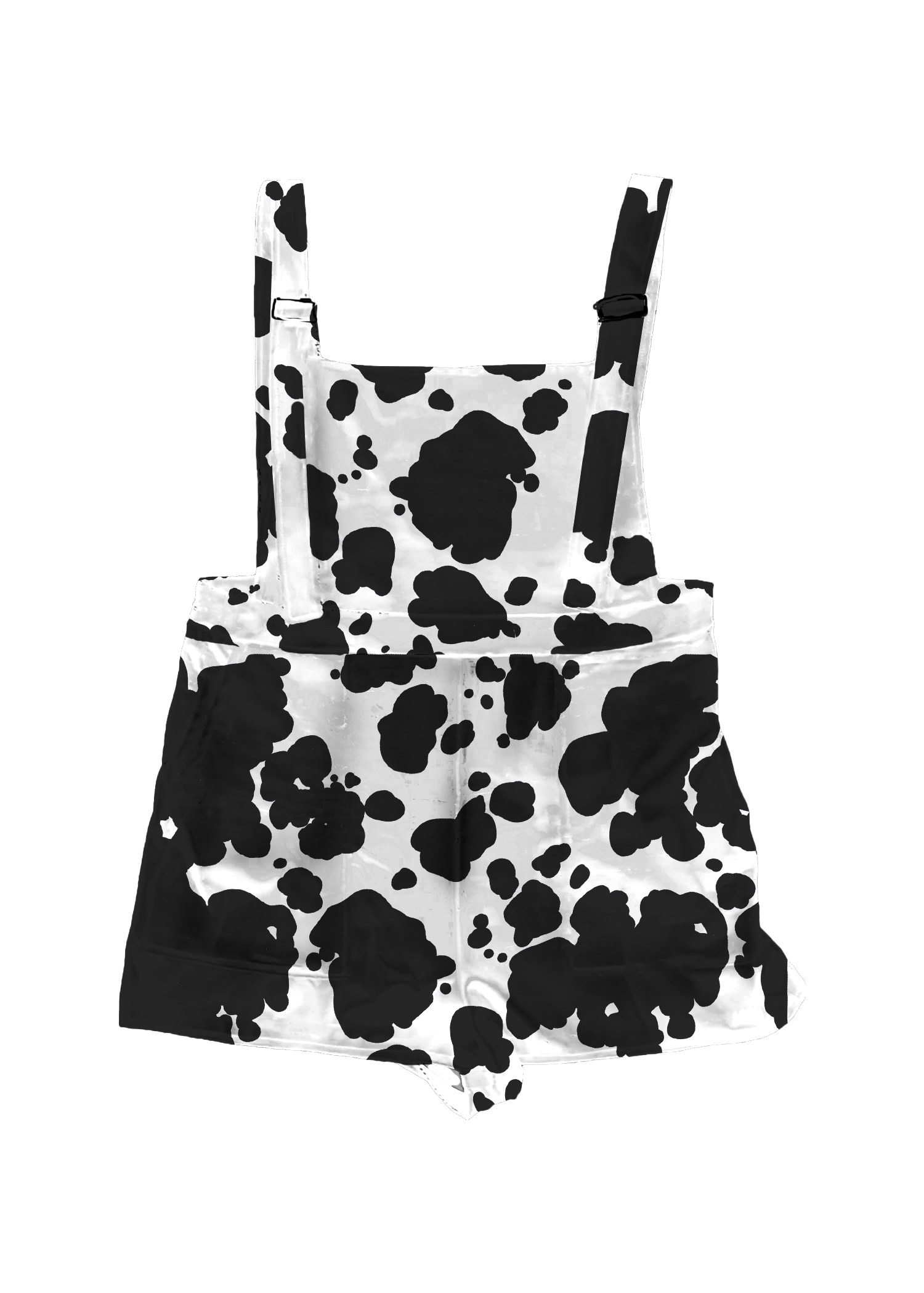 Cow Print Overall Shorts