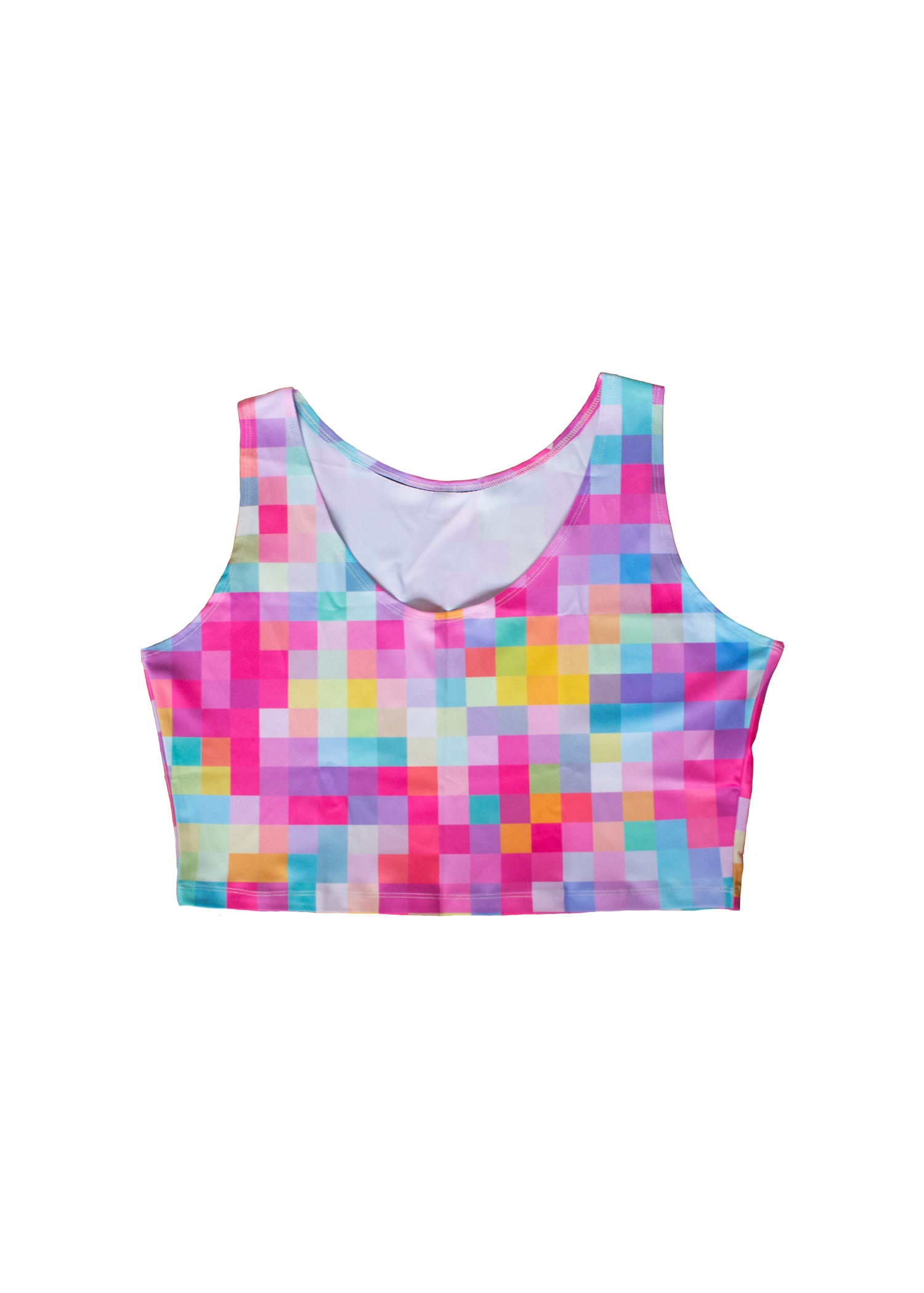 candy pixel crop tank