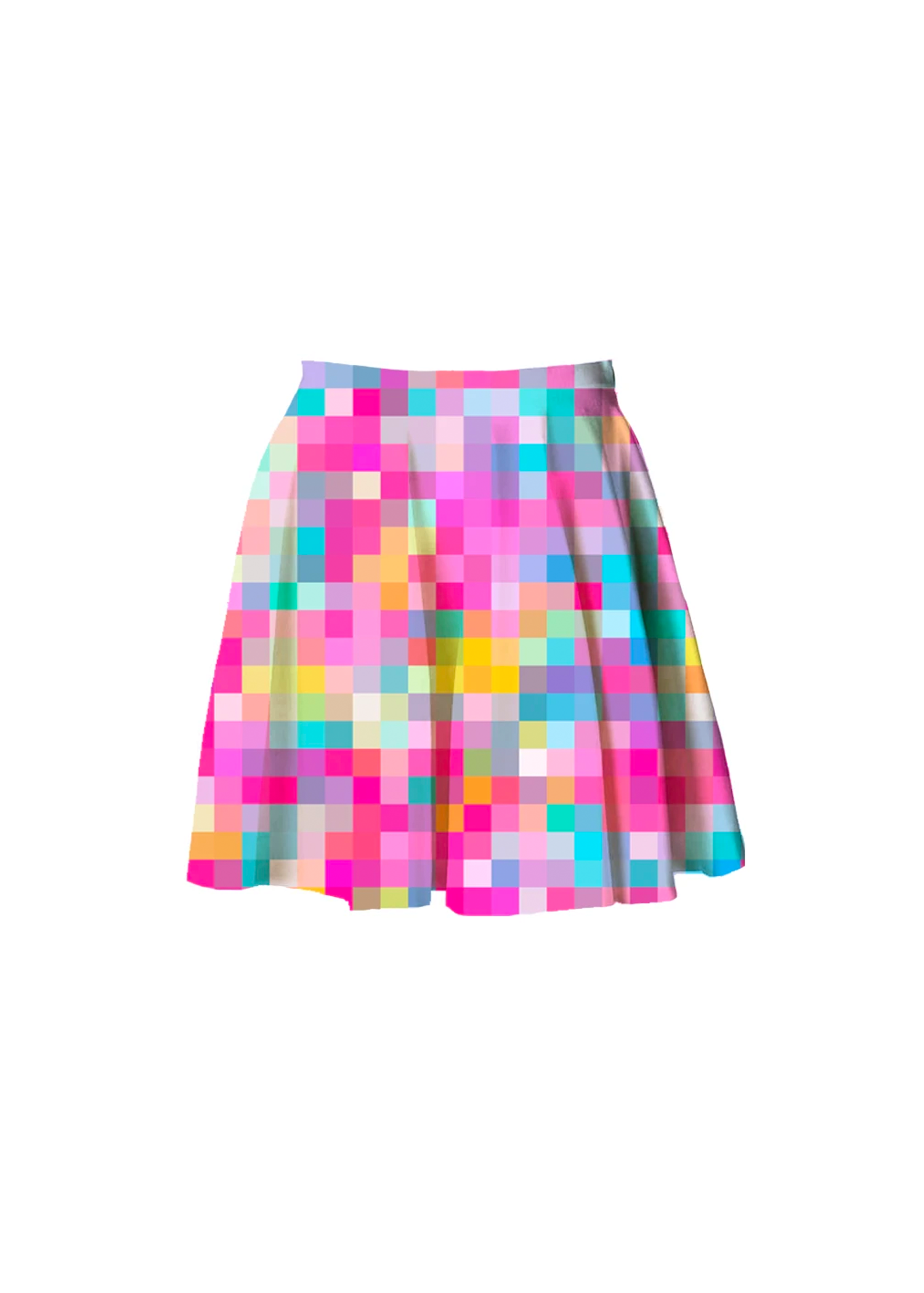 candy pixel skater skirt