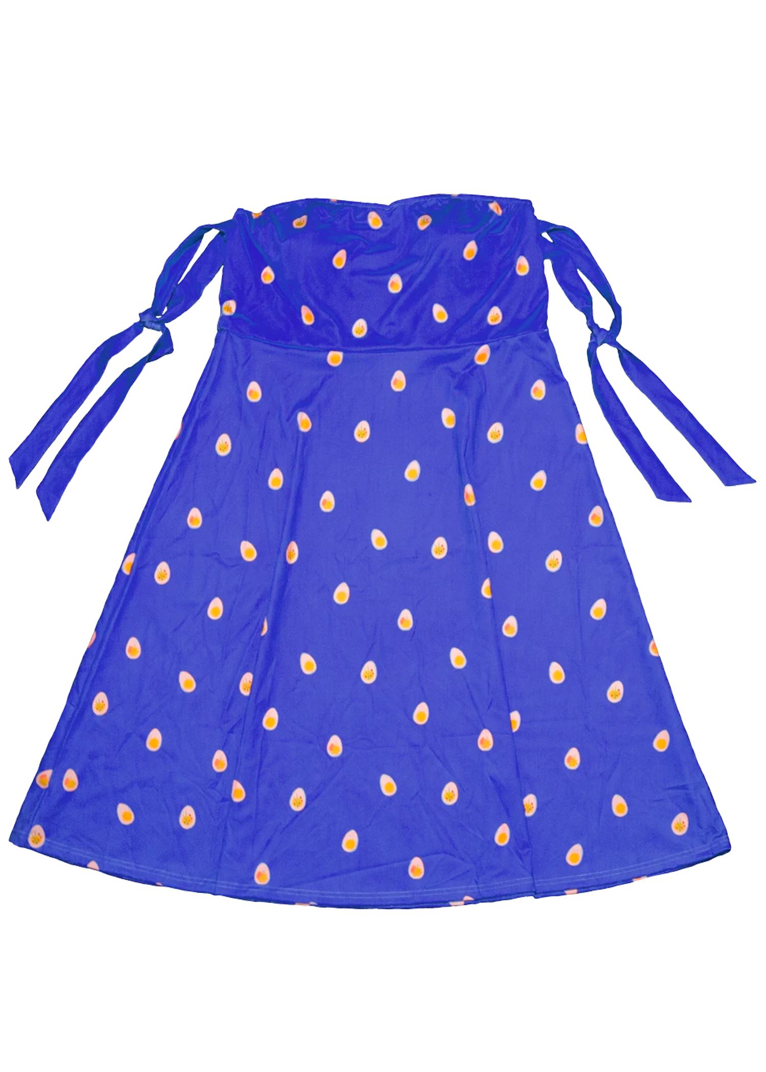 Deviled Egg Midi Dress in Royal Blue