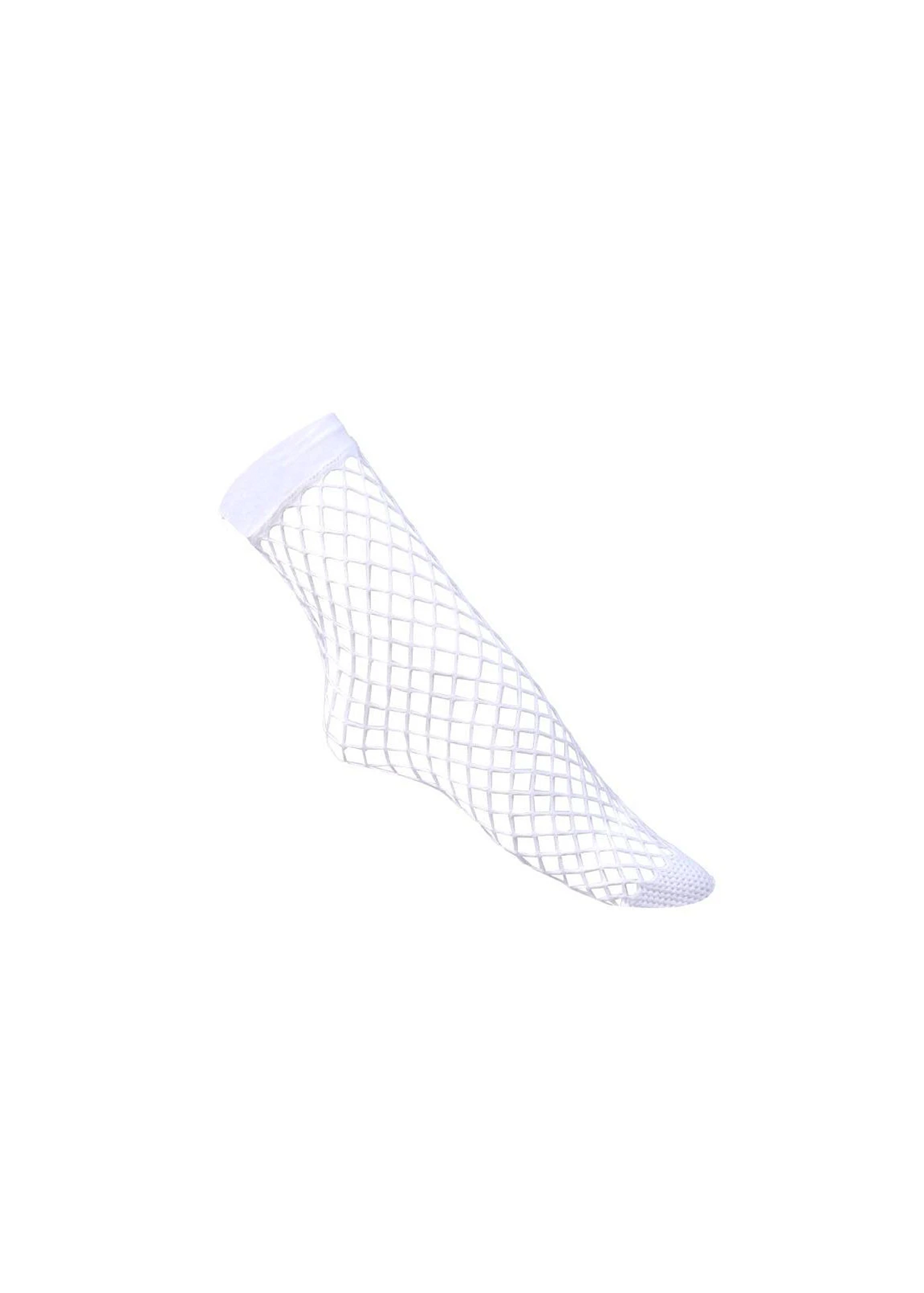 fishnet crew length socks