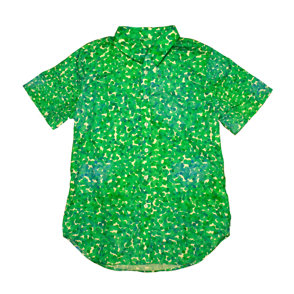 Seurat Fitted Dad Shirt in Foliage