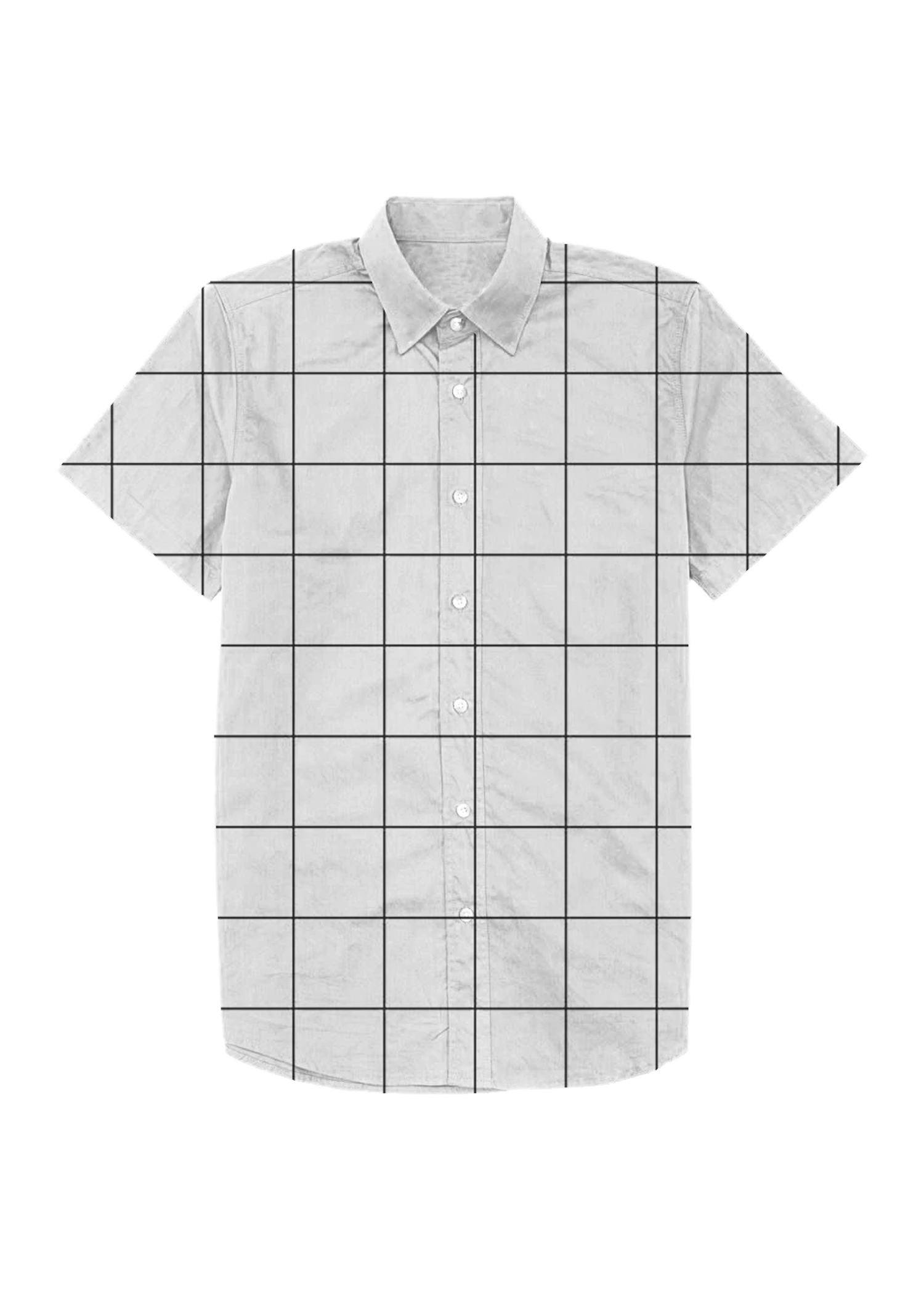 Grid Print Dad Shirt