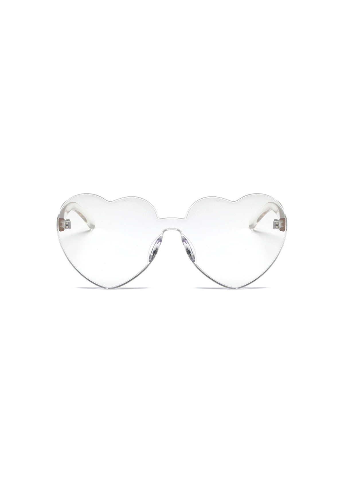heart eye glasses in clear