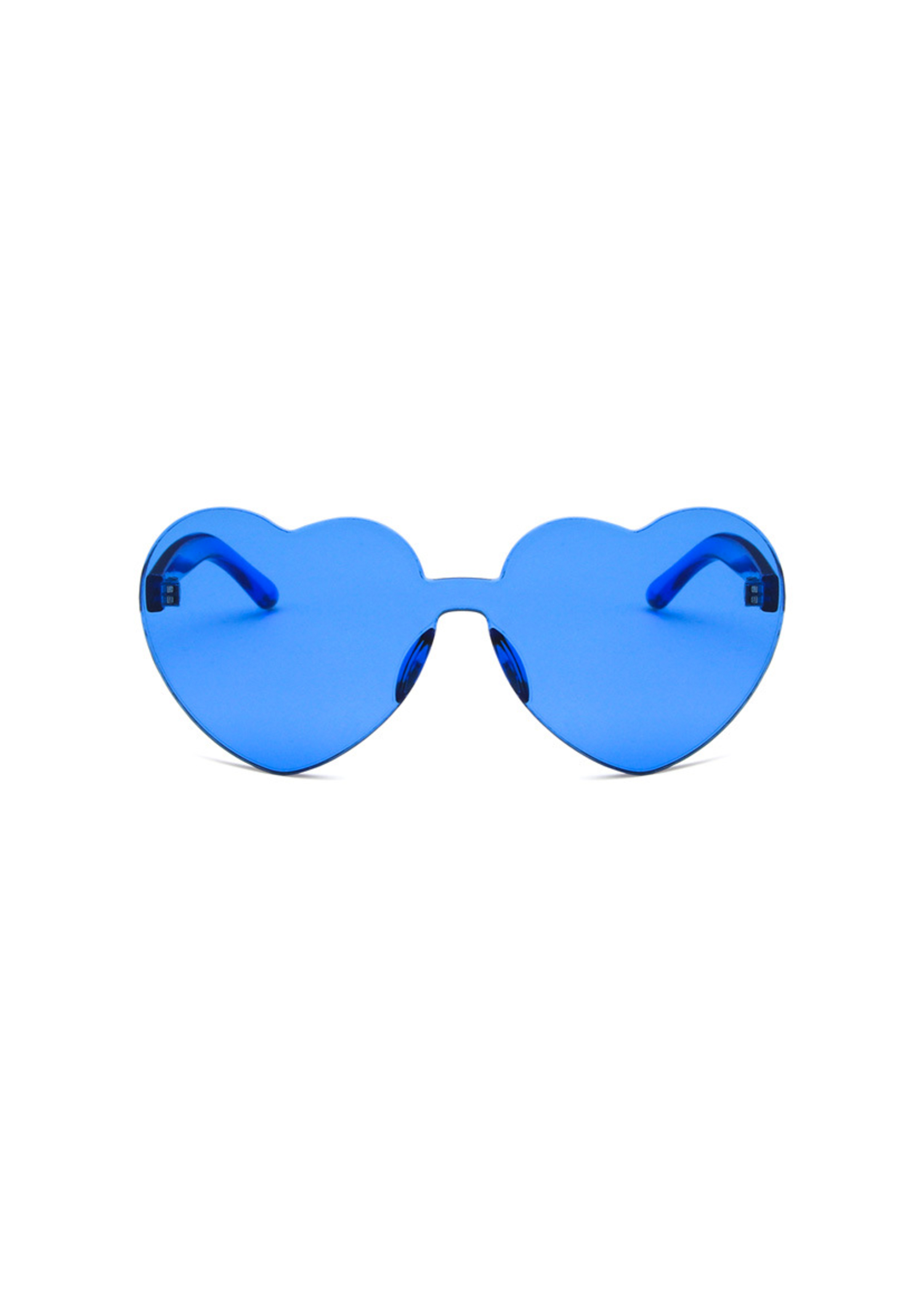 heart eye glasses in royal blue