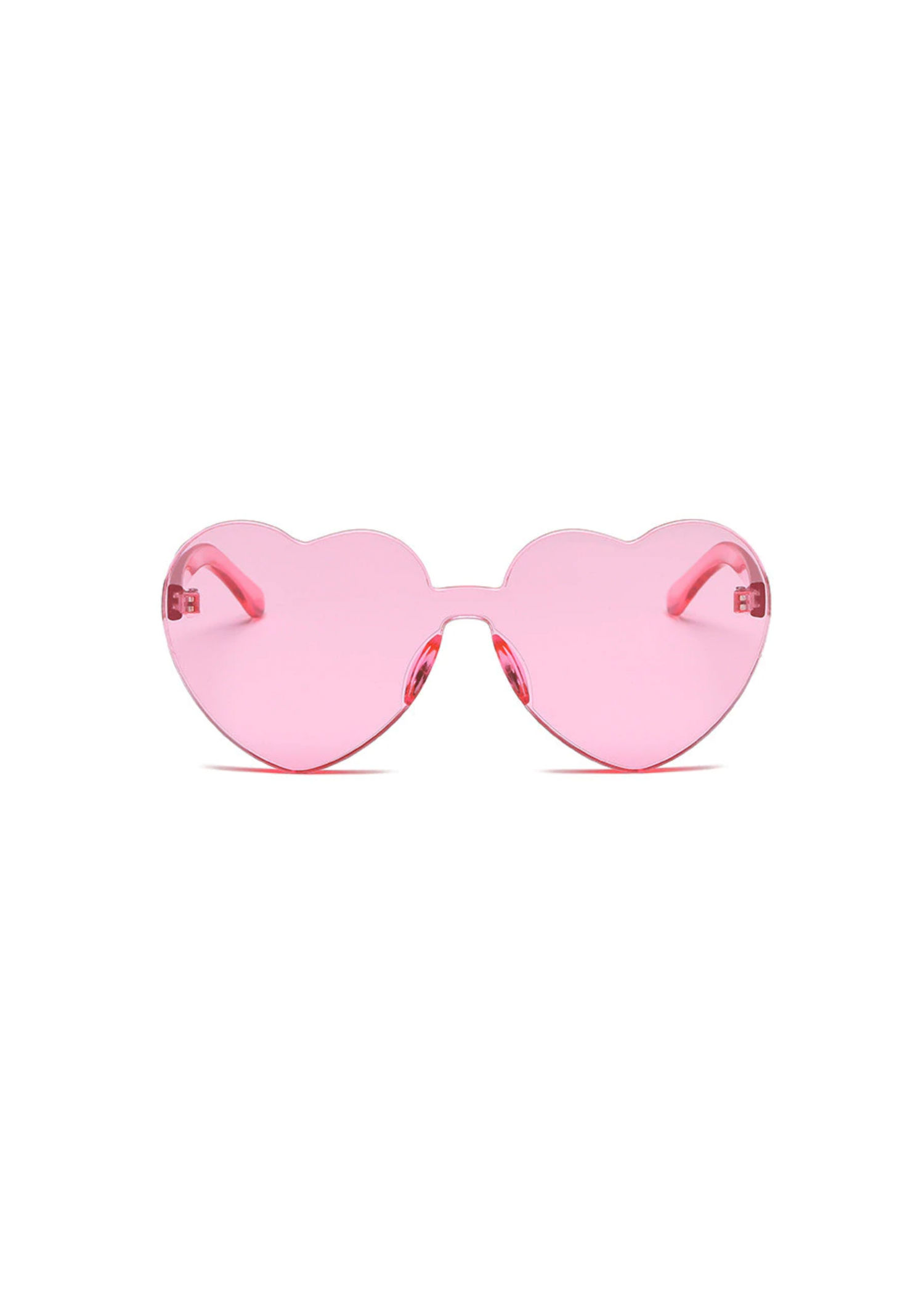 heart eye glasses in pink