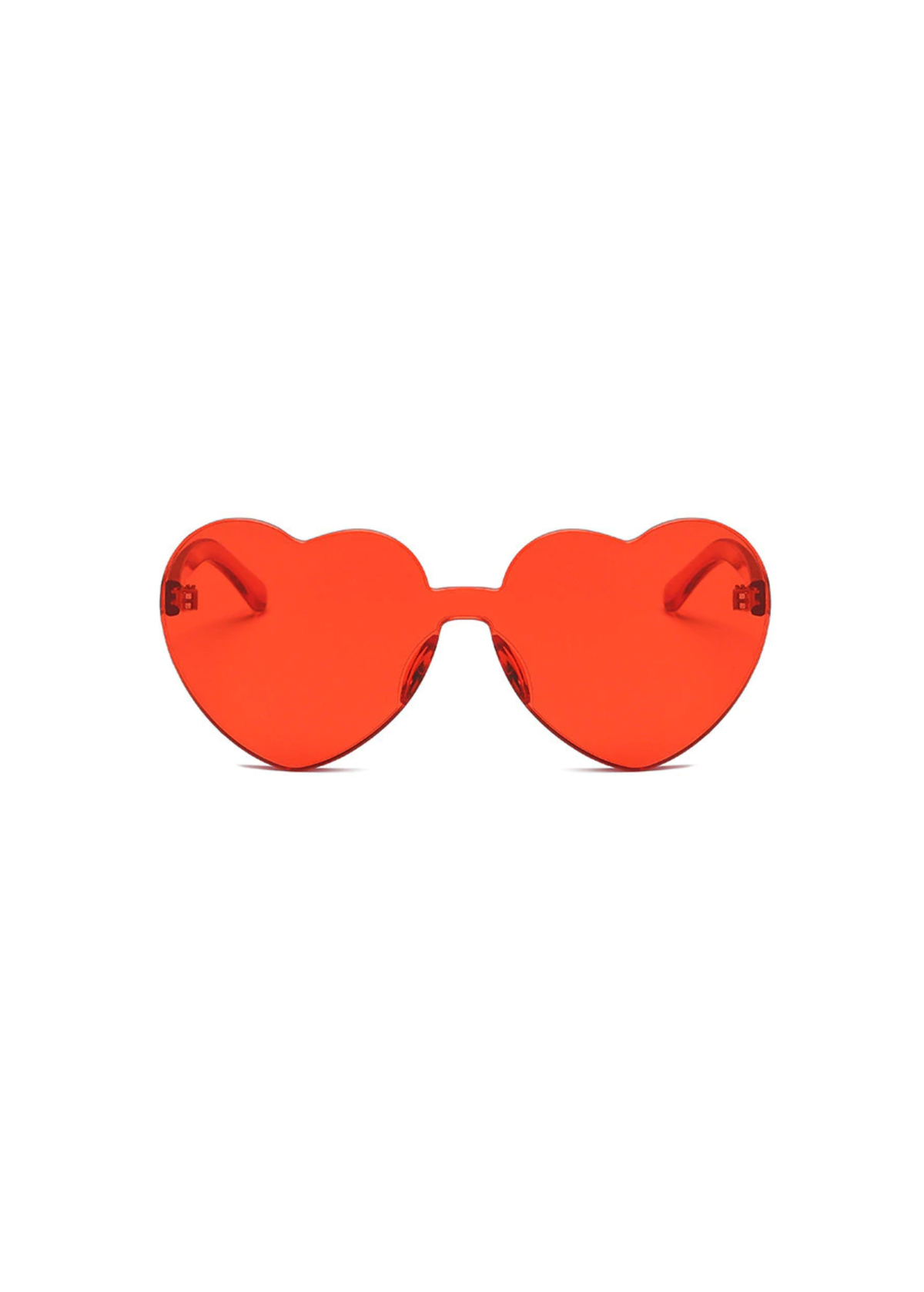 heart eye glasses in red