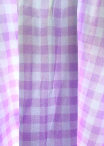 lavender gingham skater dress