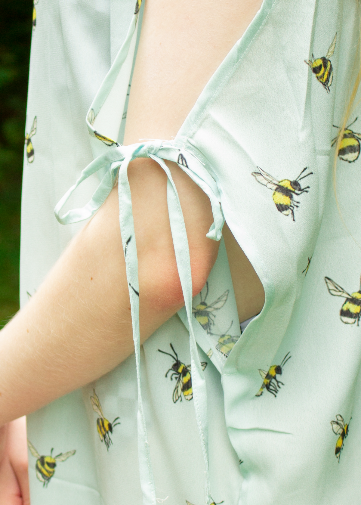 Sheer Bumblebee Dress in Rain