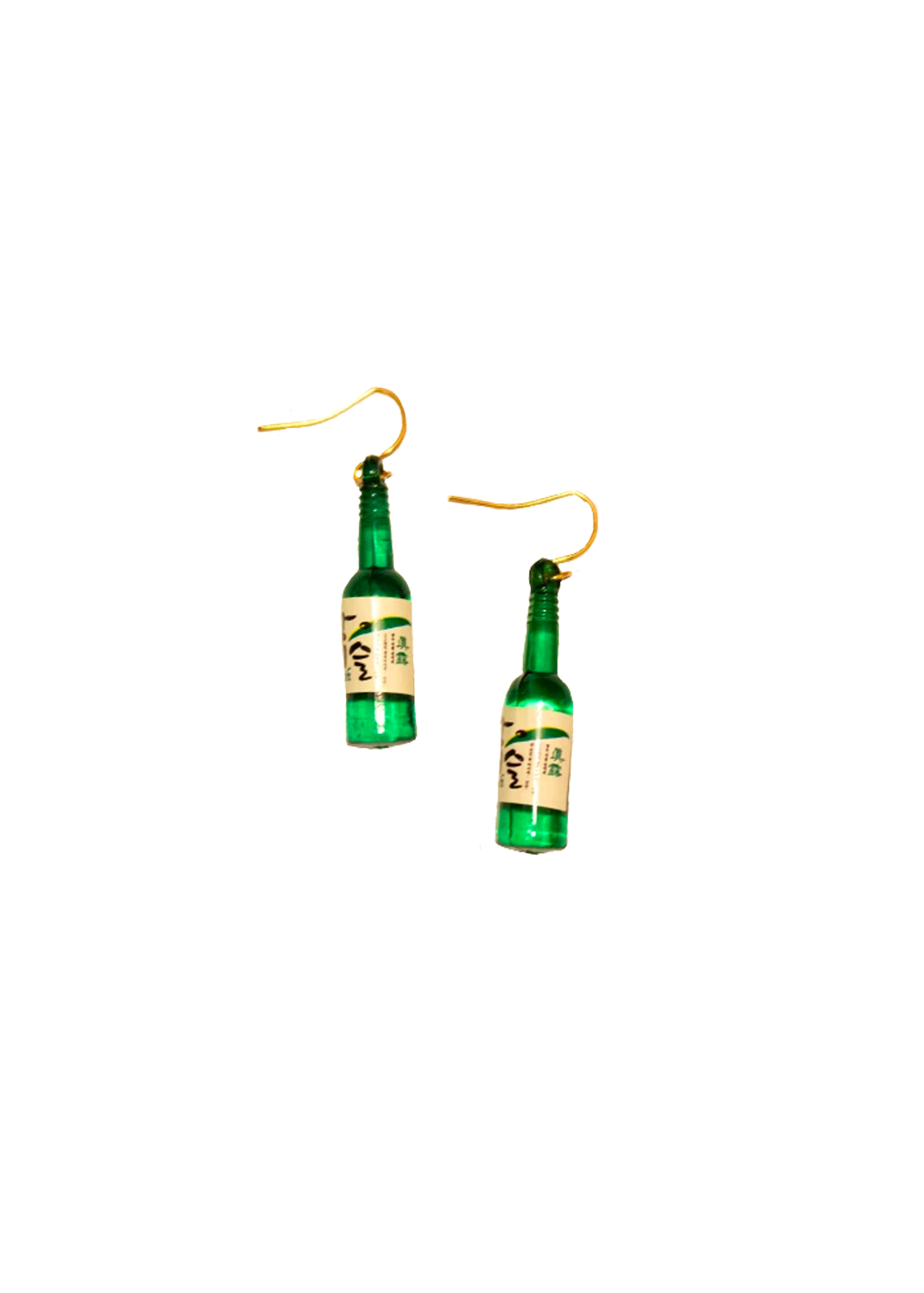 soju bottle earrings