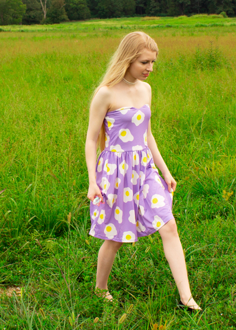 Sunny-Side Up Mini Dress in Lavender