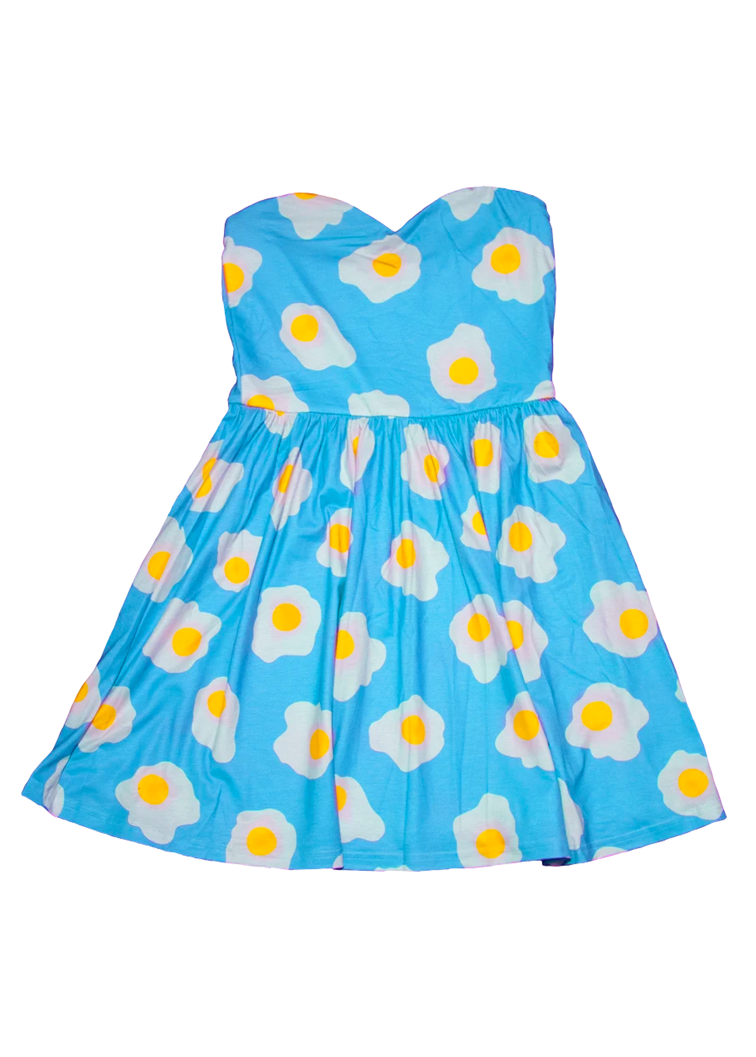 Sunny-Side Up Mini Dress in Pastel Blue